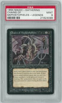 Magic the Gathering Legends Single Chains of Mephistopheles PSA 9 MINT