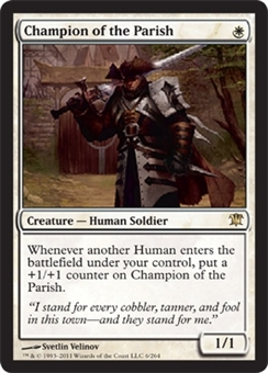 Magic the Gathering Innistrad Single Champion of the Parish UNPLAYED (NM/MT)