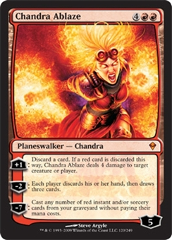 Magic the Gathering Zendikar Single Chandra Ablaze - NEAR MINT (NM)