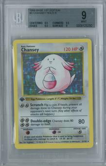 Pokemon Base Set 1st Edition BGS 9 Chansey 3/102 - MINT