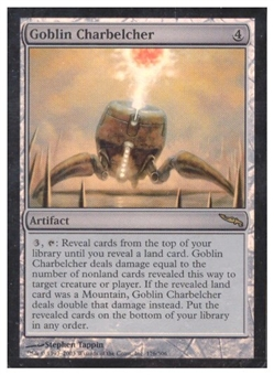 Magic the Gathering Mirrodin Single Goblin Charbelcher Foil