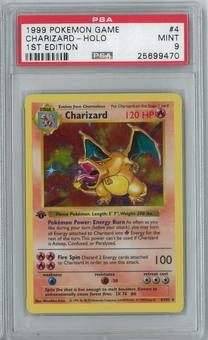 Pokemon Base Set 1 First Edition Shadowless Charizard 4/102 Holo Rare PSA 9
