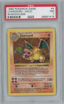 Pokemon Base Set Shadowless Charizard 4/102 Holo Rare PSA 7