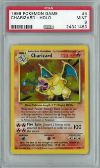 Pokemon Base Set Unlimited Charizard 4/102 Holo Rare PSA 9