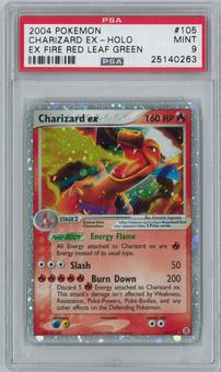 Pokemon EX Fire Red Leaf Green Single Charizard ex 105/112 - PSA 9
