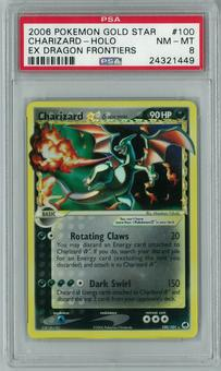 Pokemon EX Dragon Frontiers Charizard Gold Star 100/101 Holo Rare PSA 8