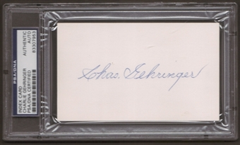 Charles Gehringer Autograph (Index Card) PSA/DNA Certified *7953