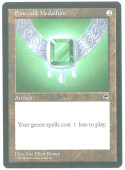 Magic the Gathering Tempest Single Emerald Medallion - CHARLIE BROWN MISPRINT