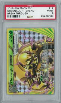 Pokemon XY Breakthrough Chesnaught BREAK 12/162 Holo Rare PSA 9