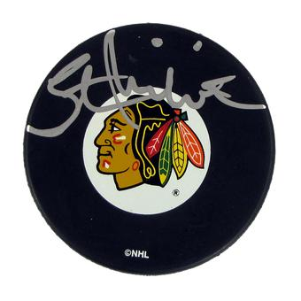 Stan Mikita Autographed Chicago Blackhawks Official Puck (JSA)