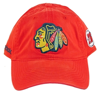 Chicago Blackhawks Reebok Red The Beginning Slouch Flex Fit Hat (Size L/XL)
