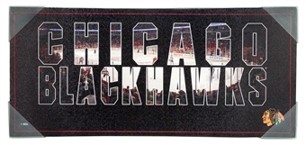 Chicago Blackhawks Artissimo Team Pride 12x26 Canvas