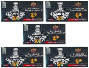 2013 Upper Deck Chicago Blackhawks Stanley Cup Champions Box (Set) (Lot of 5)