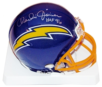 Charlie Joiner Autographed San Diego Chargers Mini Helmet
