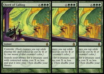 Magic the Gathering Ravnica 3x LOT Chord of Calling - SLIGHT PLAY (SP)