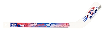 Chris Drury Autographed Team USA Mini Hockey Stick (Steiner)