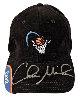 Chris Mihm Autographed Cleveland Cavaliers NBA Draft Hat (Press Pass)