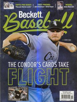 2016 Beckett Baseball Monthly Price Guide (#125 August) (Chris Sale)