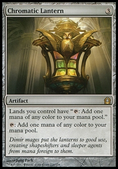 Magic the Gathering Return to Ravnica Single Chromatic Lantern FOIL - SLIGHT PLAY (SP)