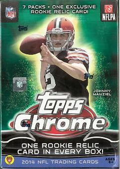 2014 Topps Chrome Football 7-Pack Box (Lot of 5)