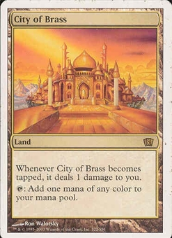 Magic the Gathering 8th Edition Single City of Brass - SLIGHT PLAY (SP)