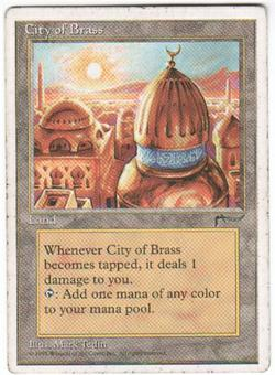 Magic the Gathering Chronicles Single City of Brass - MODERATE PLAY (MP)
