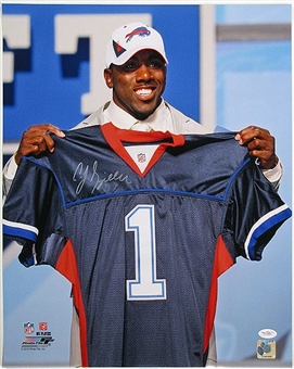 C.J. Spiller Autographed Buffalo Bills Draft Day 16x20 Photo (JSA COA)