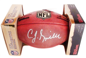 C.J. Spiller Autographed Buffalo Bills Official Wilson NFL Game Football