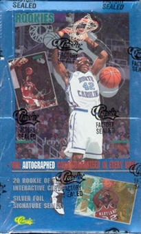 1995 Classic Rookies Basketball Box