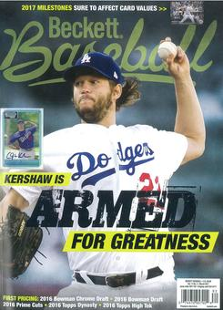 2017 Beckett Baseball Monthly Price Guide (#132 March) (Clayton Kershaw)