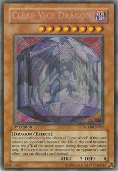 Yu-Gi-Oh Stardust Overdrive Single Clear Vice Dragon Secret Rare
