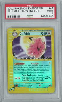 Pokemon Expedition Clefable 41/165 Reverse Foil PSA 9