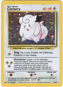 Pokemon Base Set 1 Single Clefairy 5/102 - NEAR MINT (NM)