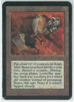Magic the Gathering Alpha Single Clockwork Beast - MODERATE PLAY (MP)