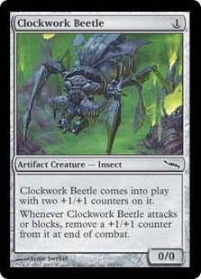 Magic the Gathering Mirrodin Single Clockwork Beetle Foil