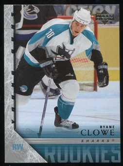 2005/06 Upper Deck Hockey #234 Ryane Clowe Young Guns Rookie Card