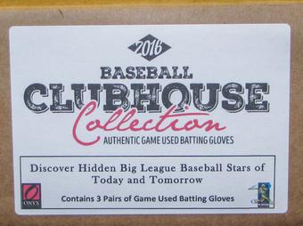 2016 Onyx Clubhouse Collection Baseball Hobby 3-Box Case