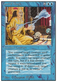 Magic the Gathering Unlimited Single Control Magic - SLIGHT PLAY (SP)