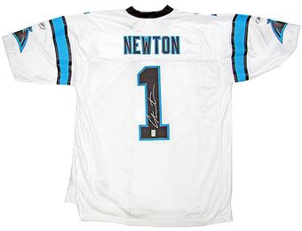 Cam Newton Autographed Carolina Panthers Reebok EQT Football Jersey