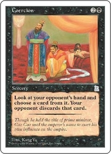 Magic the Gathering Portal 3: 3 Kingdoms Single Coercion - NEAR MINT (NM)