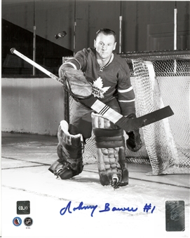 Johnny Bower Autographed Toronto Maple Leafs 8x10 Photo (COJO Coa)