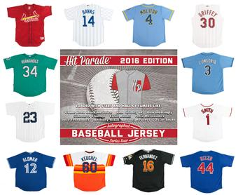 2016 Hit Parade Autographed Baseball Jersey Hobby Box - Series 4 - BP WORN MARK McGWIRE AUTOGRAPHED JERSEY!!
