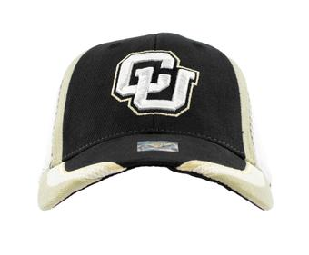 Colorado Buffaloes Top Of The World Slash Black Adjustable Hat (Adult One Size)