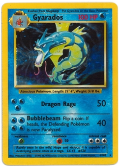 Pokemon Base Set 1 Single Gyarados 6/102 - COLOR ERROR (NM)