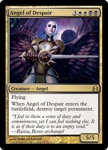 Magic the Gathering Commander Single Angel of Despair - NEAR MINT (NM)