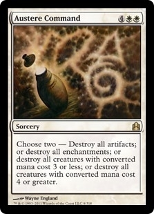 Magic the Gathering Commander Single Austere Command - NEAR MINT (NM)