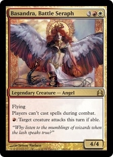 Magic the Gathering Commander Single Basandra, Battle Seraph - NEAR MINT (NM)
