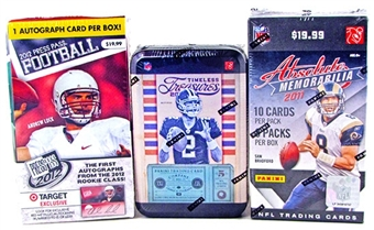Football Card Collector Package #2 - Guaranteed Autographs and Memorabilia Cards!