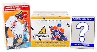Hockey Card Collector Package #1- With Mystery Memorabilia or Auto Card!