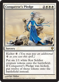 Magic the Gathering Zendikar Single Conqueror's Pledge UNPLAYED (NM/MT)